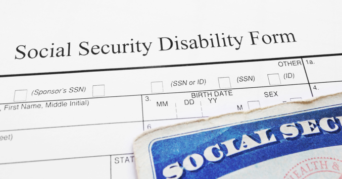 social security disability form example