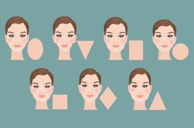 illustration of face shapes