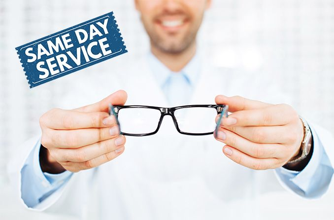 Can I get eye exam and glasses on the same day?