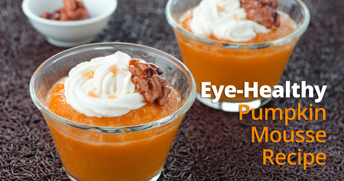 bowl of eye healthy pumpkin mousse
