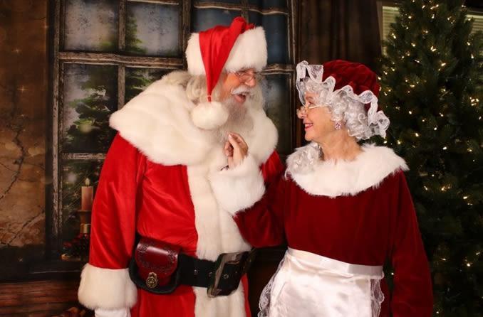 Santa Roger and Mrs. Claus