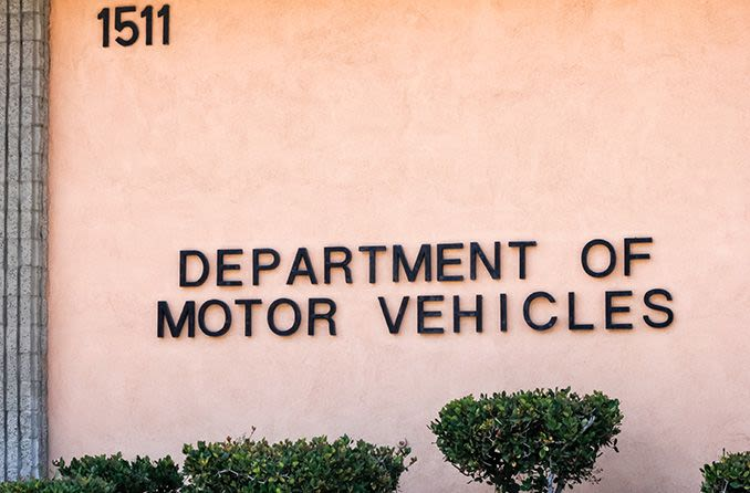 department of motor vehicles sign