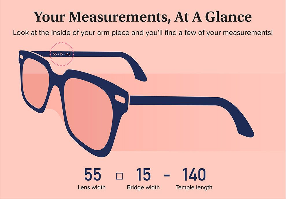Illustration of eyeglass measurements