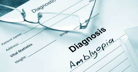 A diagnosis of amblyopia
