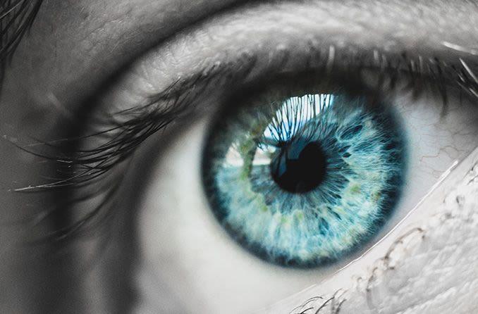 closeup of eye with rare eye disease