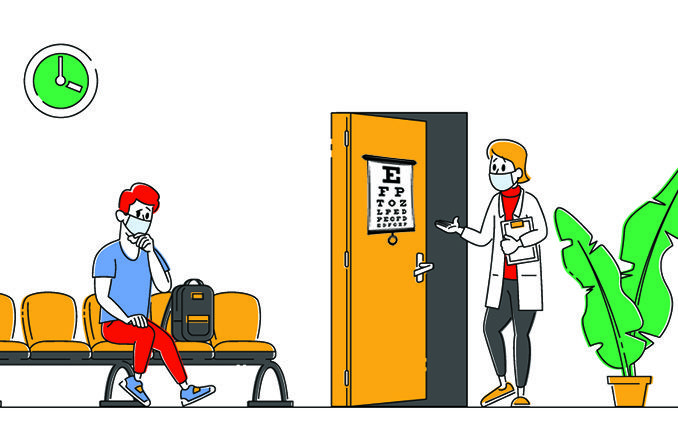 Opticians in India use infection control measures to cut Covid-19 risk