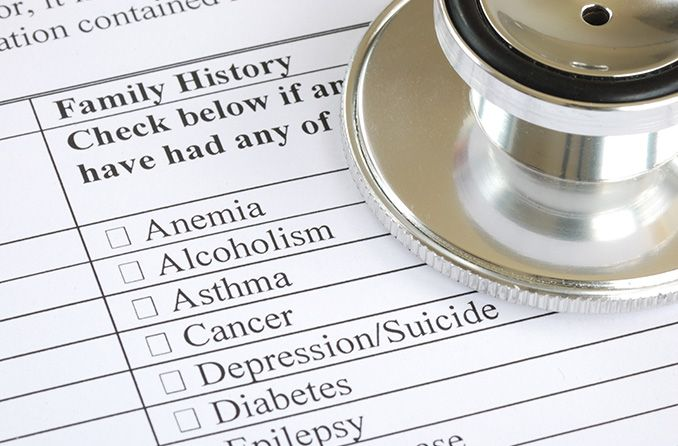 What role does family history play in vision issues?