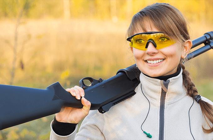 Shooting glasses and hunting eyewear