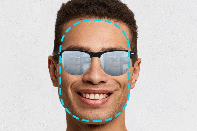 men's sunglasses oblong face shape