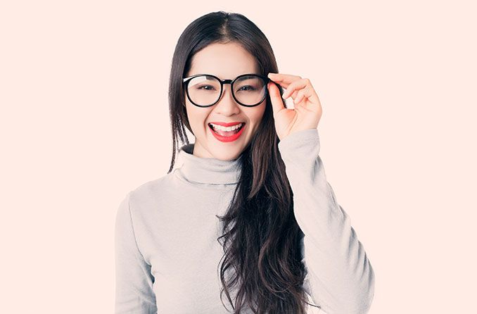 Perfect glasses frames for low nose bridges