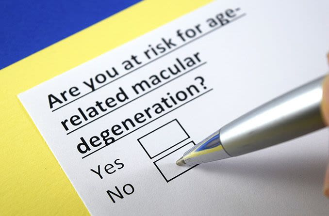 Are you at risk for age-related macular degeneration form