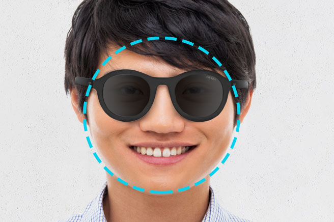 men's sunglasses round face shape