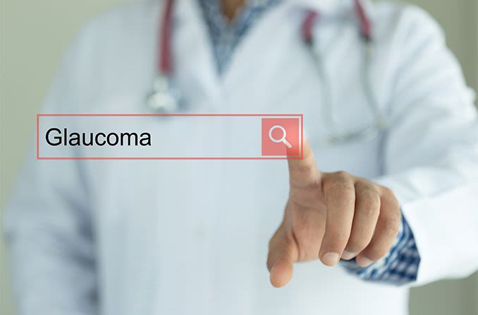 touch screen search engine for glaucoma resources