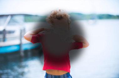 Изображение ребенка искажается из-за состояния возрастной макулярной дегенерации