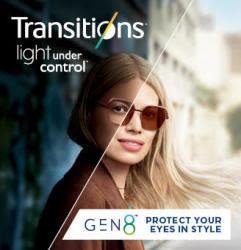 Transitions Gen8 lenses
