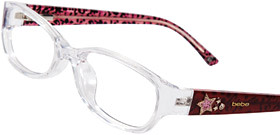 Red and pink eyeglasses