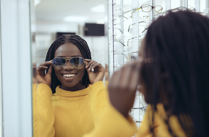 Where do most people buy sunglasses?