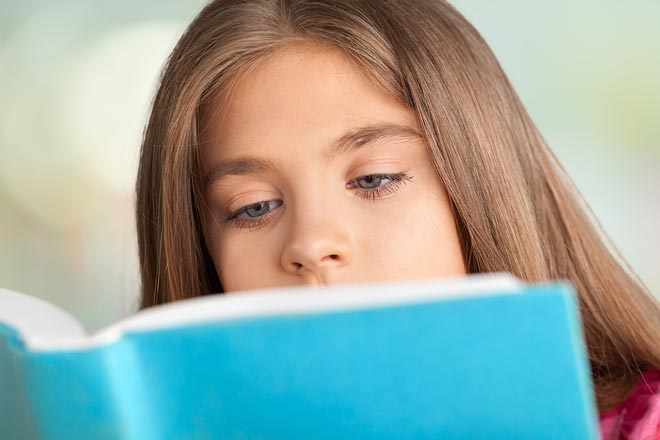 Girl reading a book