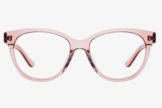 Pink Transparent Eyeglass Frames