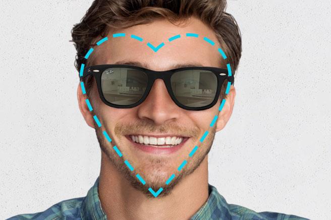 men's sunglasses heart shape face