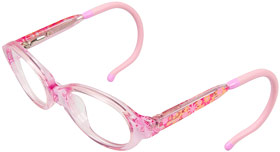 Pink girl eyeglasses