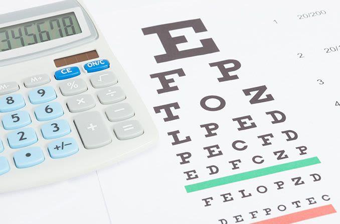 eye test with a calculator