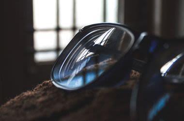 Stylish photo of reading glasses.