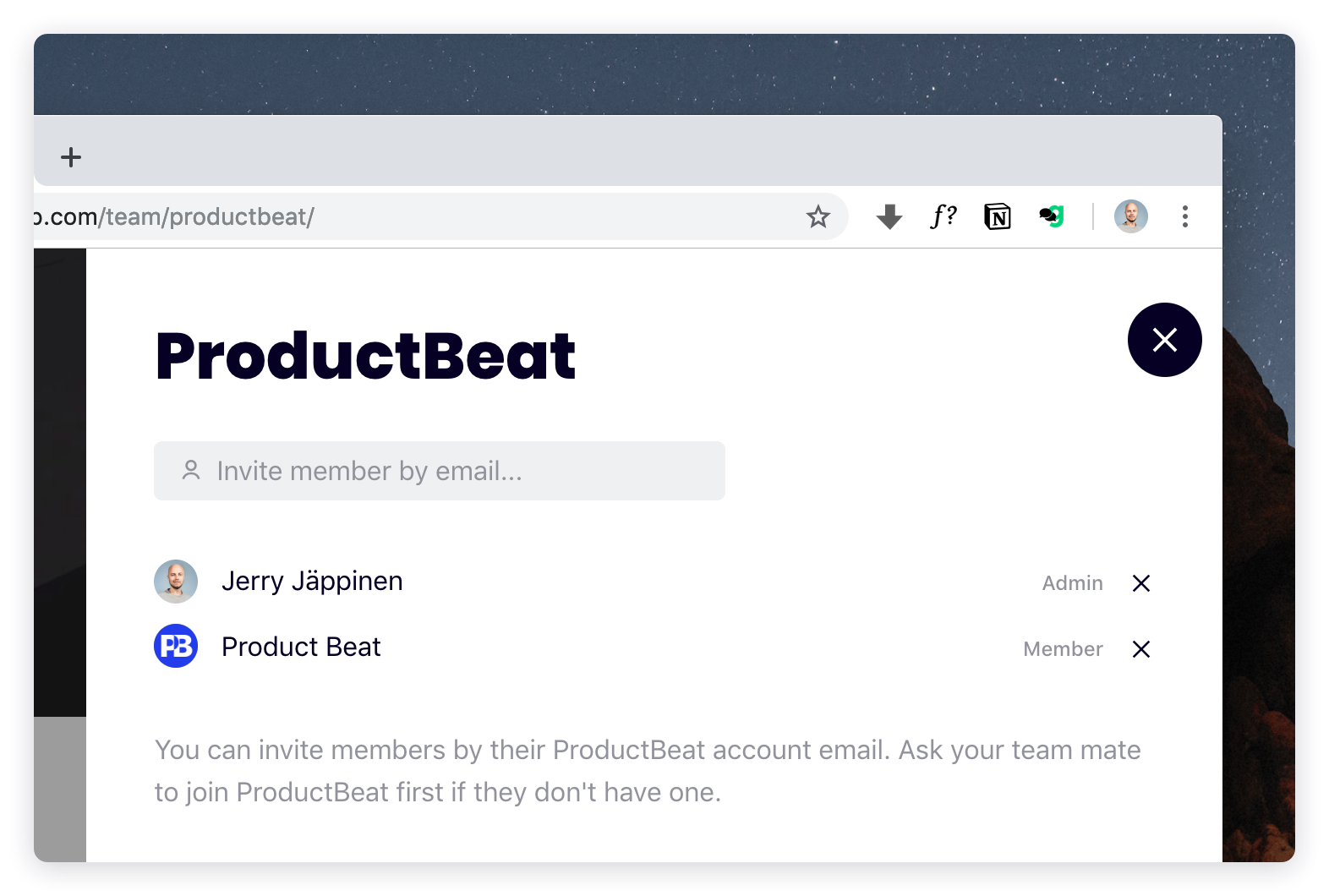Roles in ProductBeat