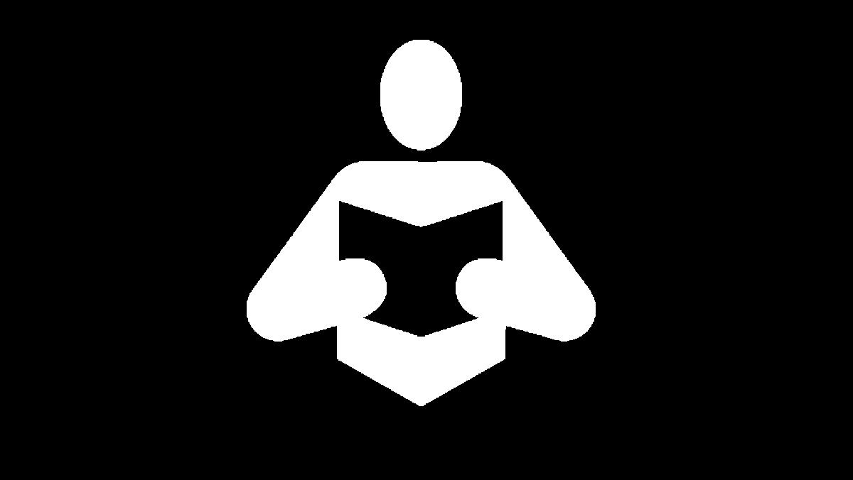 Person reading icon