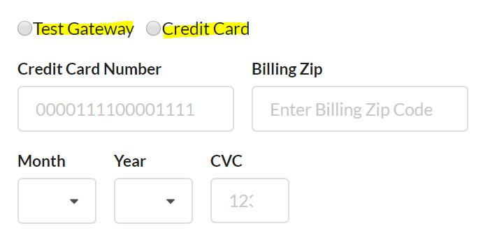 Configure payment fields