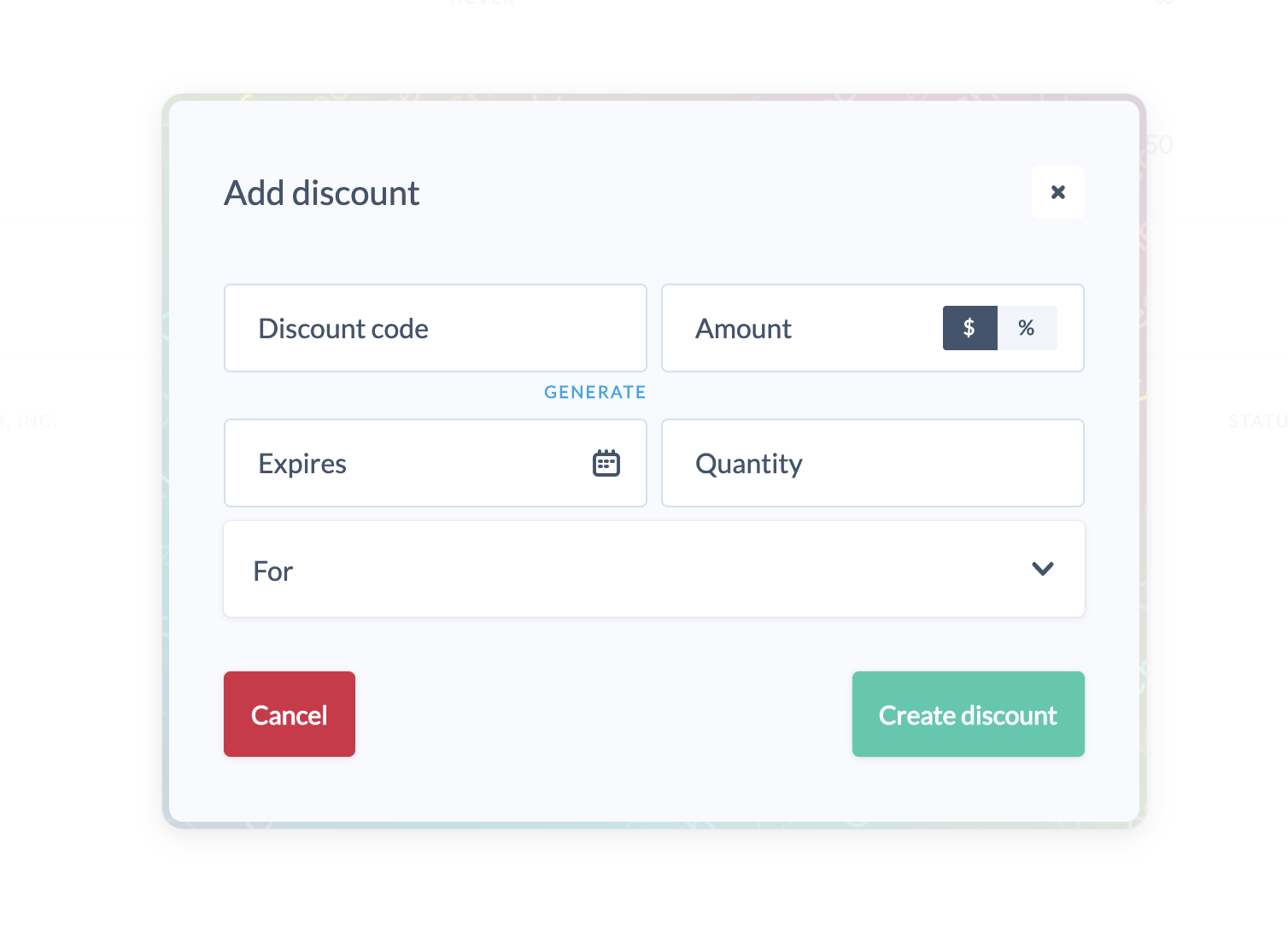 Discounts Commerce.js