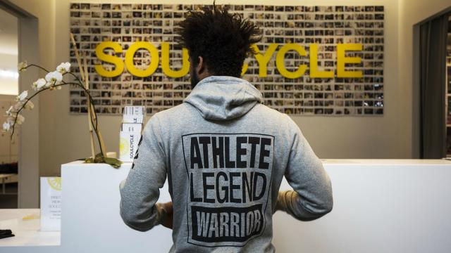 Kellen Townsend in SoulCycle Sweatshirt