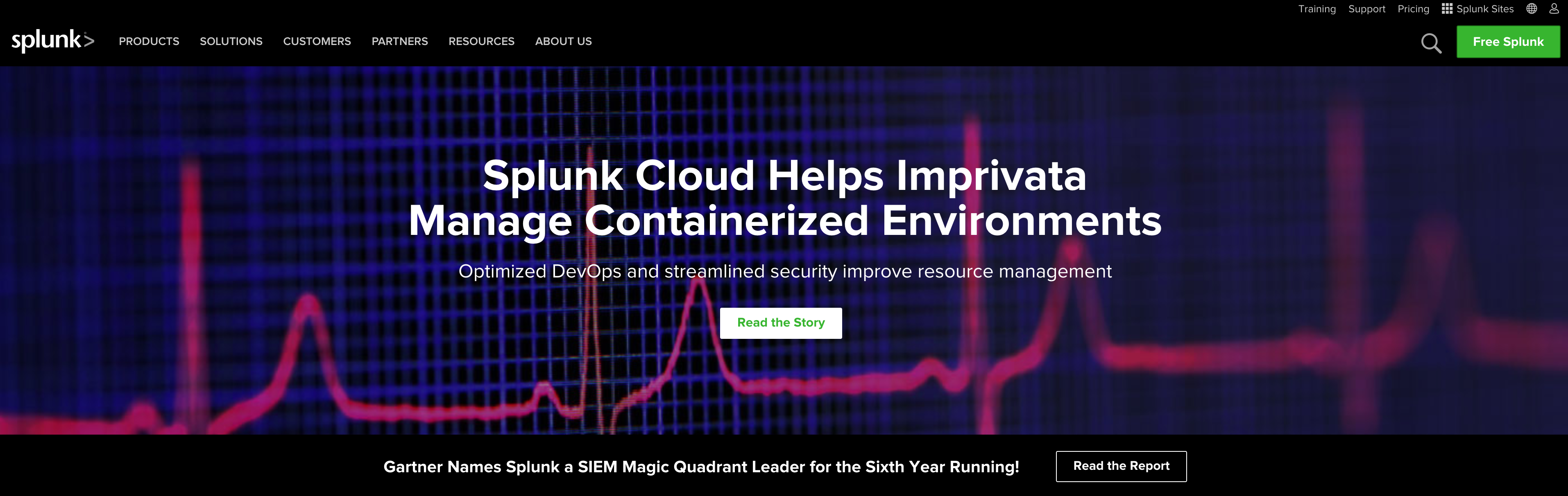 Splunk Homepage Screenshot