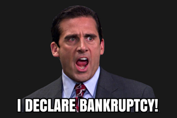Michael Scott I Declare Bankruptcy Graphic