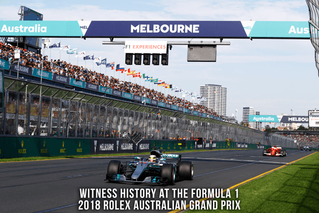 Witness history at the Formula 1 2018 Rolex Australian Grand