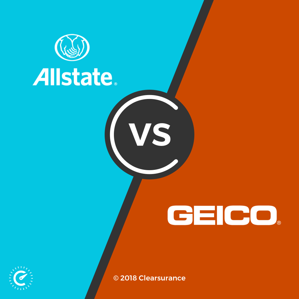 allstate vs geico consumer ratings and rates clearsurance. Black Bedroom Furniture Sets. Home Design Ideas