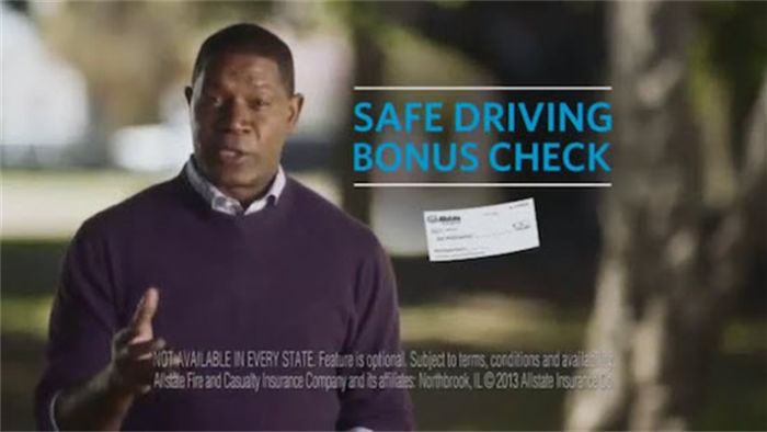 Allstate safe driving bonus check commercial