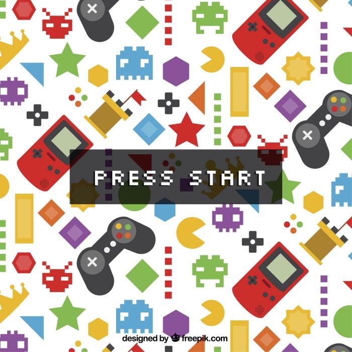 Start screen of a game