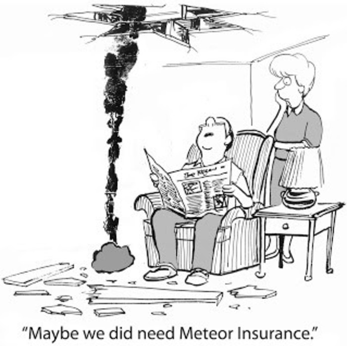 Hole in a roof cartoon