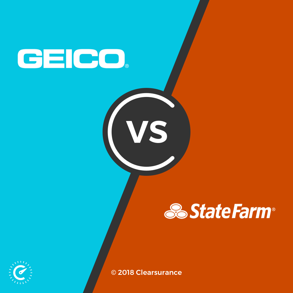 Geico Vs State Farm >> Geico Vs State Farm Consumer Ratings Clearsurance