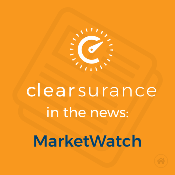Clearsurance in the news: MarketWatch