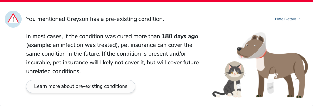 pre-existing condition alert pawlicy advisor