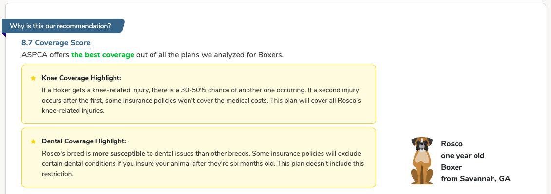 boxer pet insurance recommendation