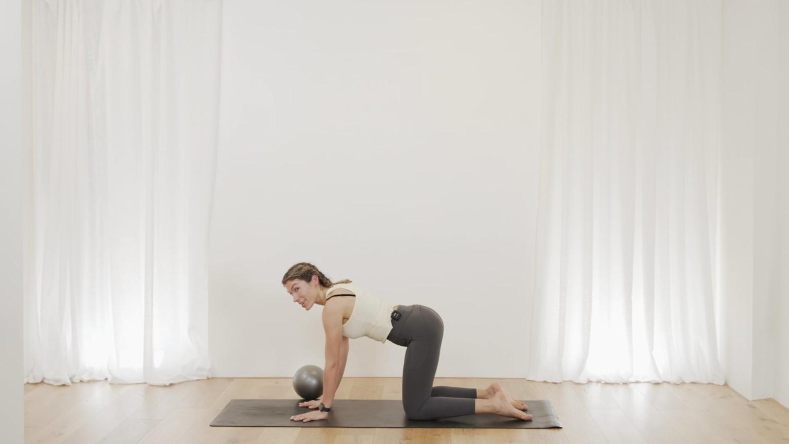 Mat Pilates using prop with Edwina Mumby