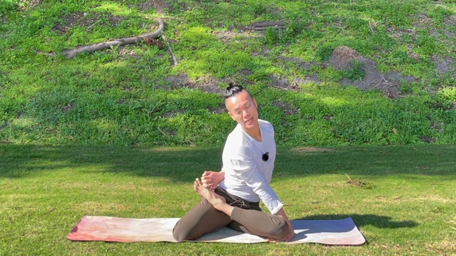 Mermaid Hip Opening Slow Yoga Flow with Johnson Chong