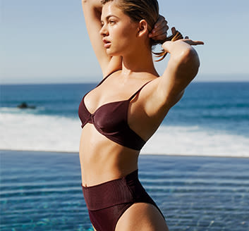 62c0b50816 Beach Riot's bold basics looks best on the beach or peeking out from a  cover-up. The brand's love of all things oceanside has inspired a swim  collection ...