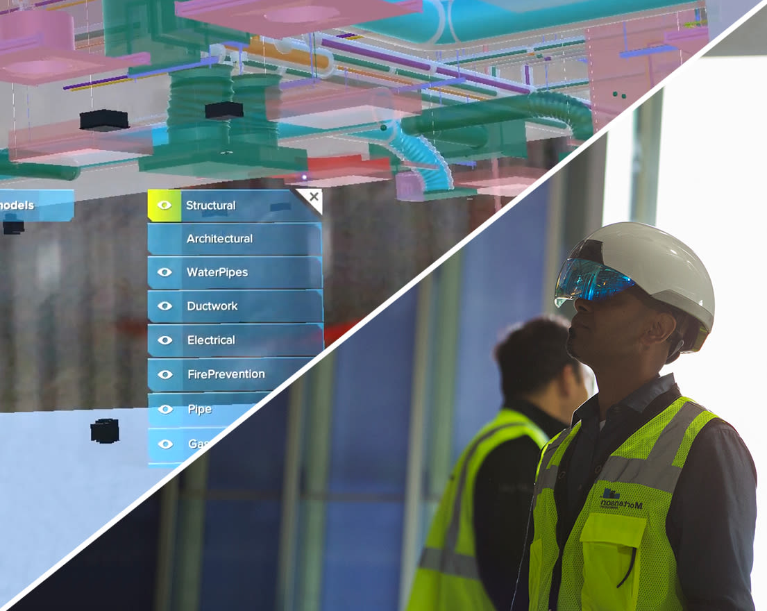 One application of the Daqri smart helmet is in the construction industry