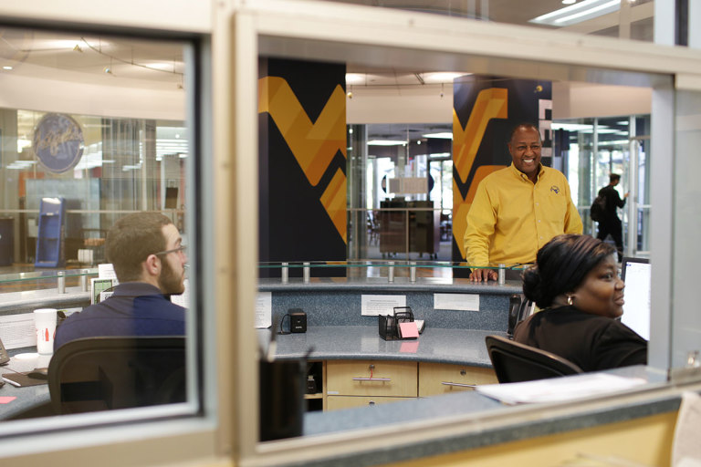 Employees at Mountainlair Information Desk