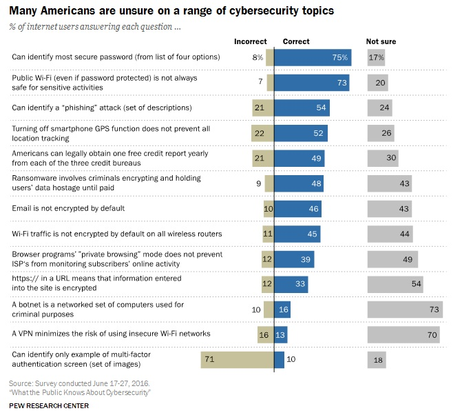Pew Research Cybersecurity Topics