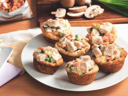 mini pot pies with quorn meatless pieces vegetarian recipe